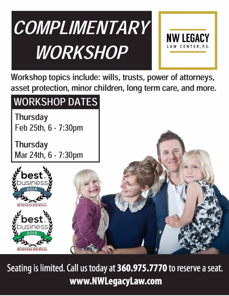 Workshop flier for Estate Planning