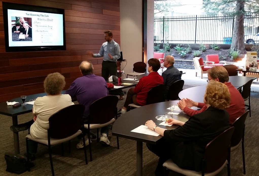 Photo of Thomas teaching Estate Planning