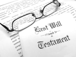 Photo of Last Will and Testament document