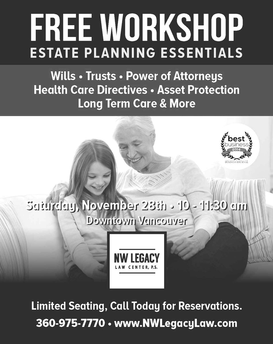 Workshop flier for Estate Planning 1