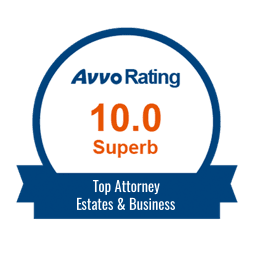 Top Attorney for Estates and Business Icon - AVVO Rating 10.0 Superb